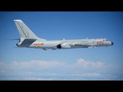 Exclusive: PLA Air Force's H-6K bombers conduct training in South China Sea
