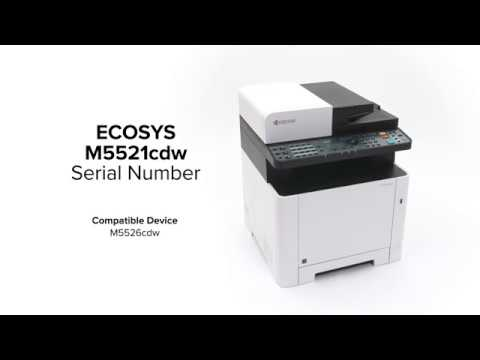KYOCERA ECOSYS M5521cdw, M5526cdw: Finding the Serial Number