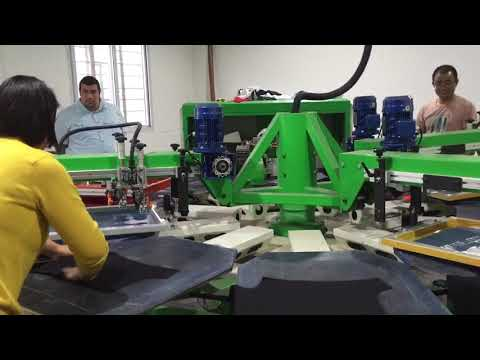 Automatically screen printing machine digital printer combination 2000pcs printing and one worker