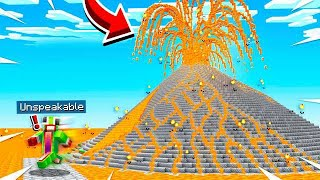 ESCAPING AN ACTIVE VOLCANO IN MINECRAFT!