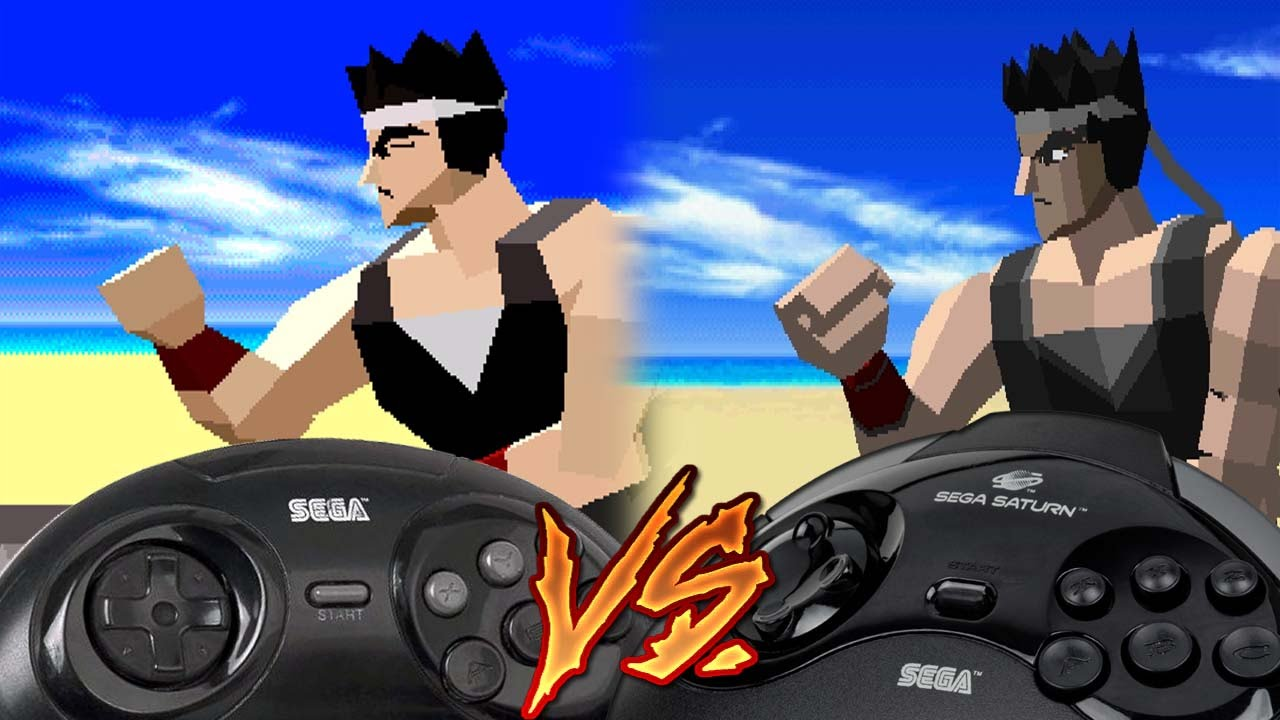 Sega 32x Vs Sega Saturn - Virtua Fighter