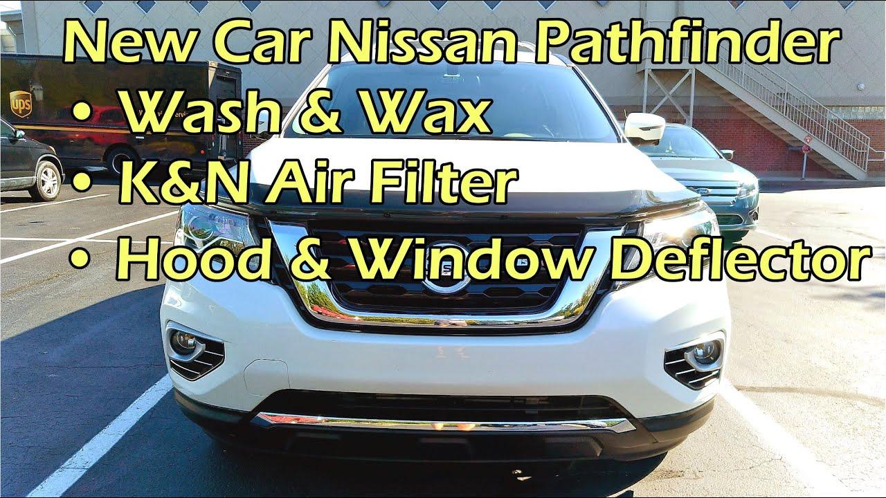 Pathfinder New Car Prep: Wax / K&N Air Filter / Hood & Window ...