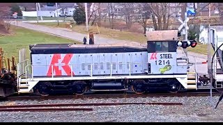 AK STEEL ENGINE,  A ZIPPER MEET,  NICE OLD CARS, ALL IN ONE TRAIN!