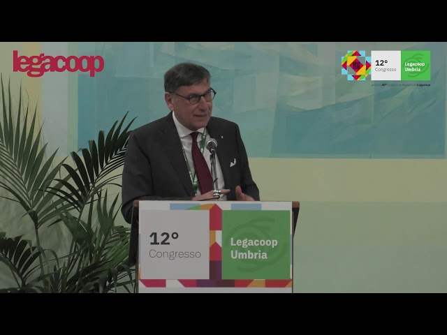 Intervento del Presidente Mauro Lusetti al 12° Congresso Legacoop Umbria