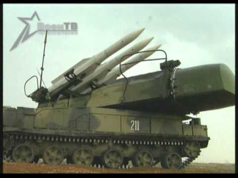 Зенитно-ракетный комплекс  «Бук». Пуски ракет.