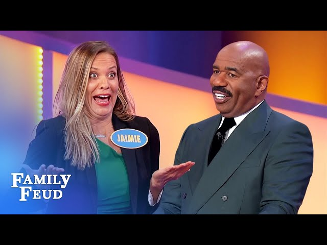 Steve Harvey says NOBODY looks sexy doing this exercise! | Family Feud