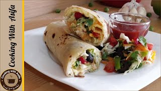 Shami Kabab Paratha Roll Recipe by Cooking with Asifa.