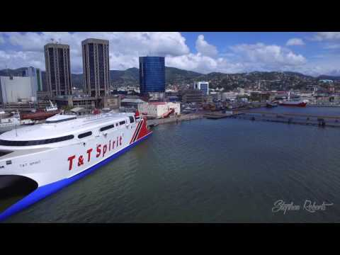 Port Of Spain Trinidad And Tobago Aerial Video