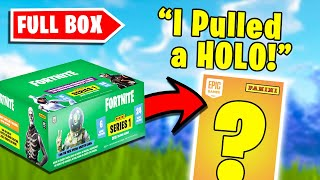 Opening a FULL BOX of Fortnite Trading Cards
