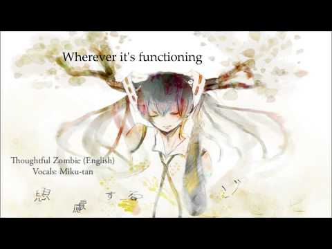 [Vocaloid] Thoughtful Zombie【Miku-tan】- English