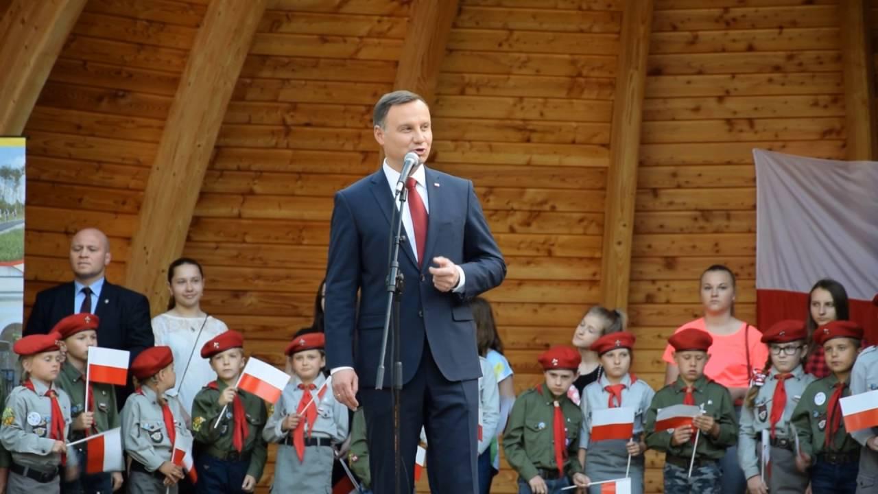 Prezydent Andrzej Duda w Busku-Zdroju - YouTube