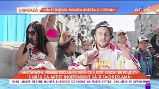 Macanache, primele declarații după ce a fost ridicat de polițiști