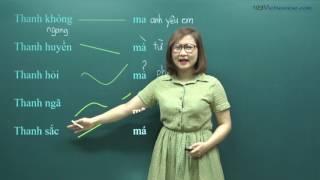 #3 Học tiếng Việt: thanh điệu