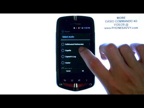 Casio Commando 4G - How Do I Change Text Message or Notifications Tone