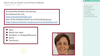 How to set up a Bullet Journal-style notebook in OneNote