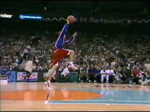 1996 NBA Slam Dunk Contest - Full Contest - All Star Weekend - Brent Barry - Free Throw Line