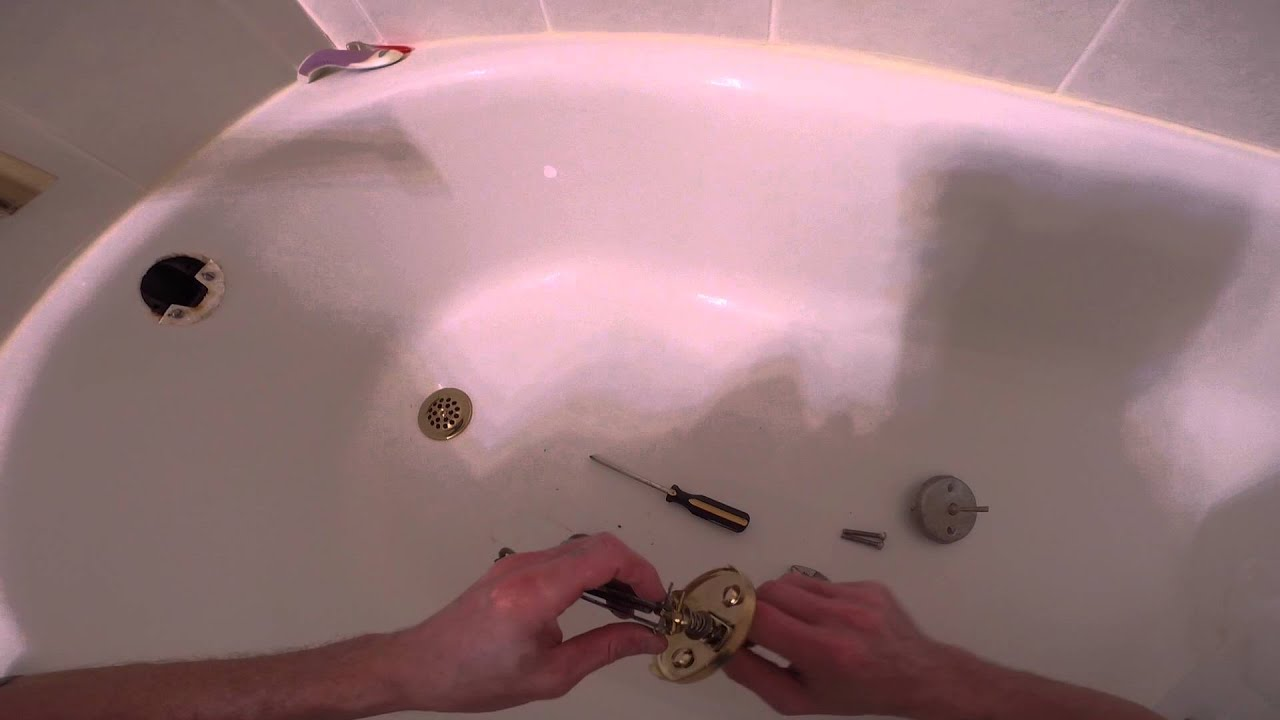 Ordinaire How To Replace A Trip Lever Bathtub Drain Cover