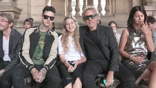 Travis Mills, Renzo Rosso and more attend the Maison Margiela Menswear Spring Summer 2017 in Paris