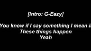 I MEAN IT G-EAZY LYRICS😎