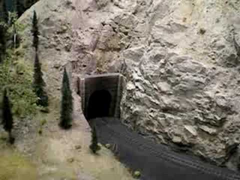 Rocky Mountains N Scale Layout Coal Train
