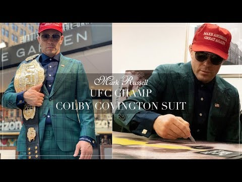 Ufc Champ Colby Covington Suit By Mark Russell Mark Russell Clothing Youtube