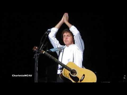 Paul McCartney sings Blackbird & Here Today tribute to John Lennon @ Charlotte, NC 2010