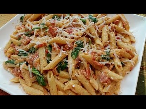 Creamy Tomato Italian Pasta With Spinach-Recipe 113