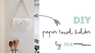 DIY video tutorial: paper towel holder