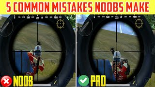 5 Common Mistakes Noobs Make In Pubg Mobile Lite || Pubg Mobile New Tips & Tricks 2020 ||