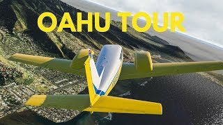 X Plane 11 - Oahu Scenic Tour - Hawaii Photo-real Project