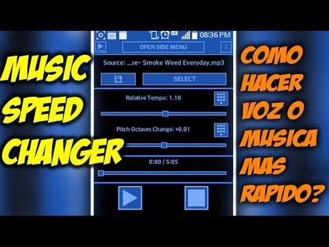 Como hacer la voz o musica mas rapida o lenta / Speed Music Changer