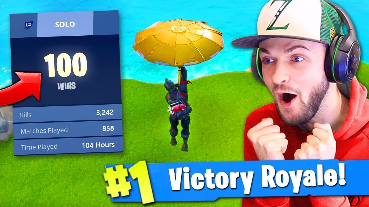 100 WIN *SECRET* UNLOCK in Fortnite: Battle Royale? (KILL RECORD)