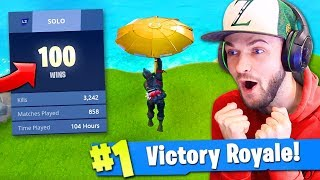 100 WIN *SECRET* UNLOCK in Fortnite: Battle Royale? (KILL RECORD) thumbnail