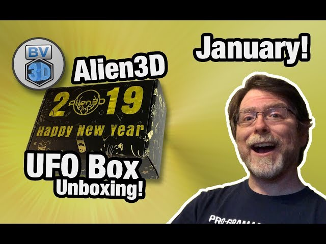 January 2019 Alien 3D UFO Box Unboxing