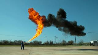 50 ft Flamethrower in 4K Slow Motion   The Slow Mo Guys Обрезка 02
