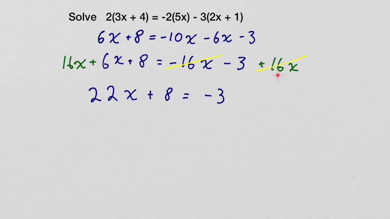 How To Solve 2 3x 4 2 5x 3 2x 1 Algebra Problem Youtube