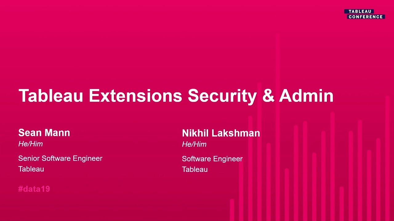 Tableau Extensions Security and Administration - YouTube