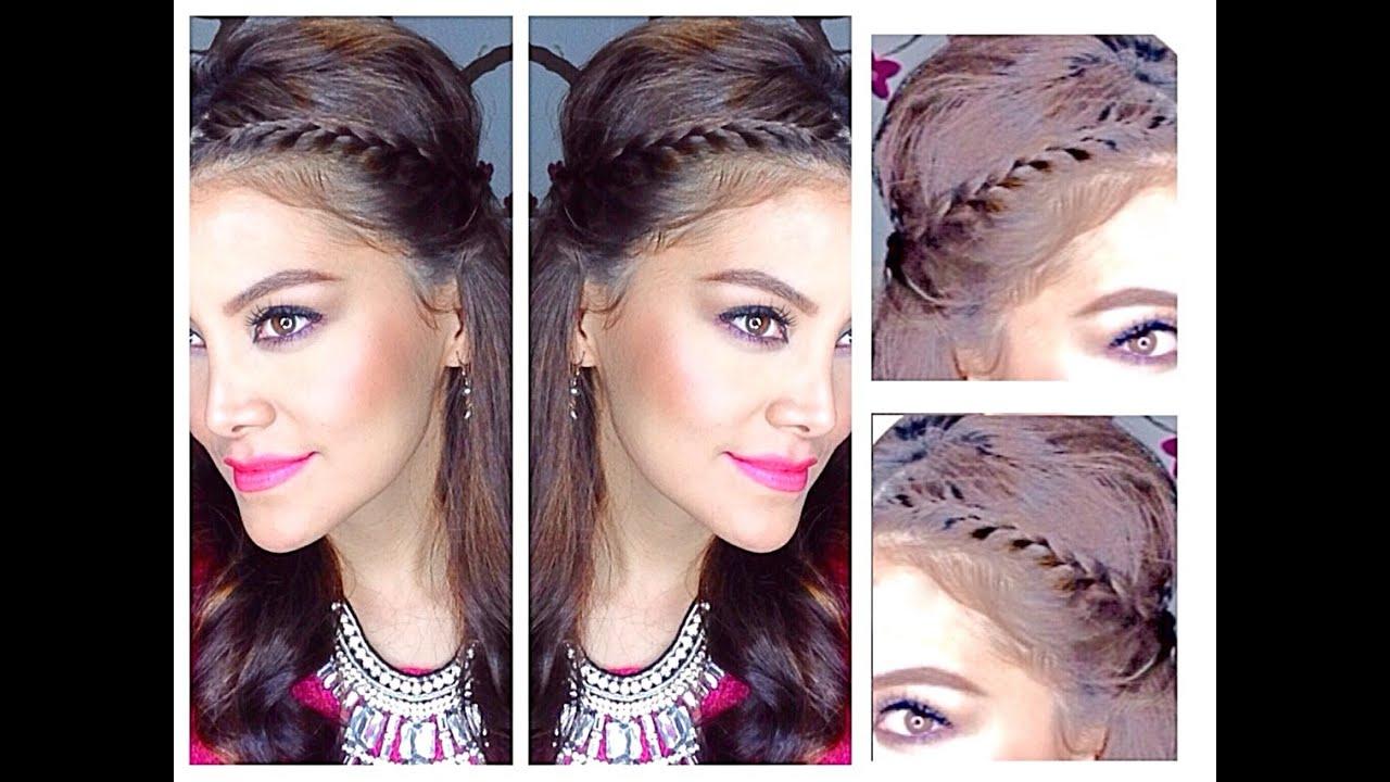 Peinado Media Cola Con Trenza Cute Hairstyles Youtube