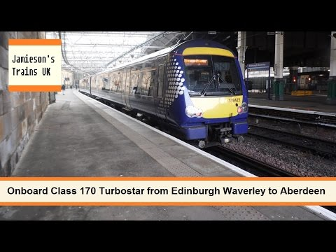 Onboard Class 170 Turbostar from Edinburgh Waverley to Aberdeen