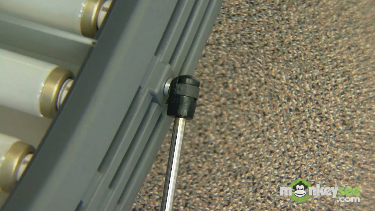 How to replace shocks and hinges on a tanning bed YouTube