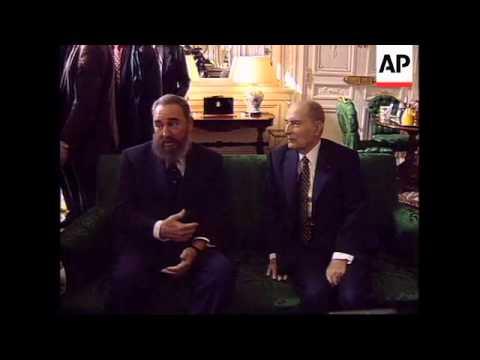 FRANCE: PARIS: CUBAN PRESIDENT FIDEL CASTRO VISIT