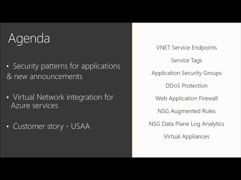 Network security for applications on Microsoft Azure - BRK4019
