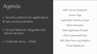 Network security for applications on Microsoft Azure