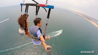 [HD] Parasailing High above SoCal Coastline - Balboa Parasail - Newport Beach, CA