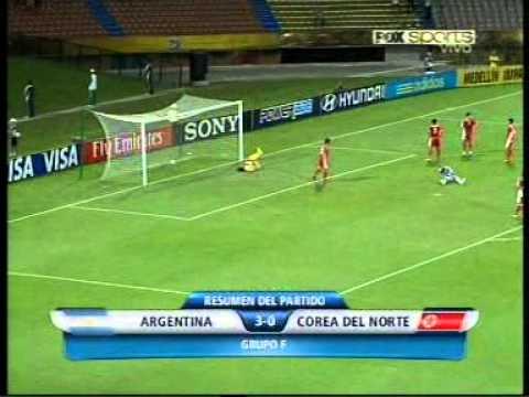 Goles de Argentina vs. Corea del Norte Mundial Sub 20