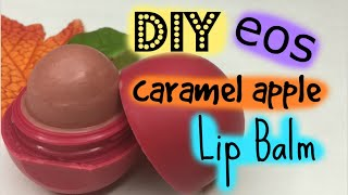 diy eos caramel apple lip balm