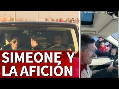 La eufórica salida de Simeone desde dentro y fuera de su coche | Diario As