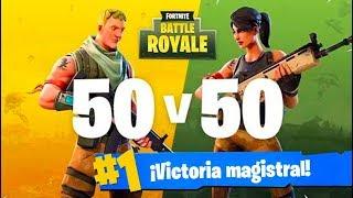 CÓMO GANAR en 50vs50 v2! FORTNITE: Battle Royale