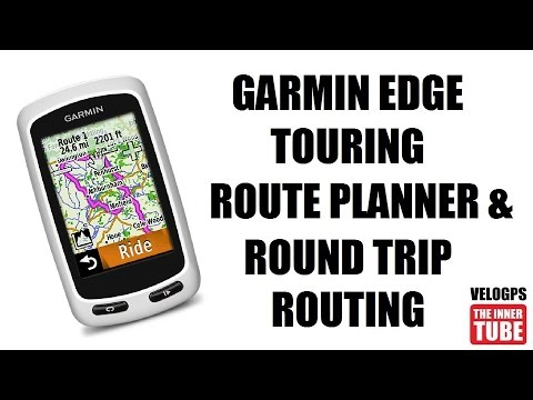garmin edge touring route planner round trip routing youtube
