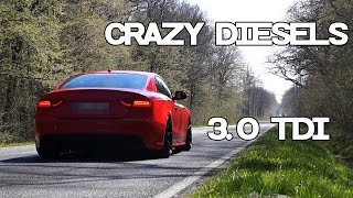 Audi A5 3.0 TDI Crazy Diesel Sound Compilation Part 1